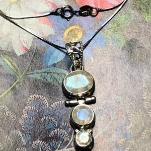 Sitara Collections Jewelry - Rainbow Moonstone Sterling Pendant Necklace